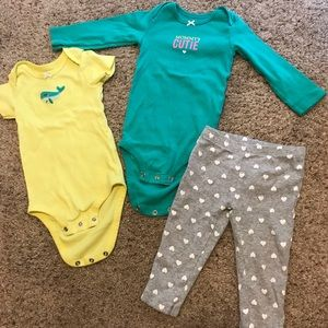 3pc baby girl outfit